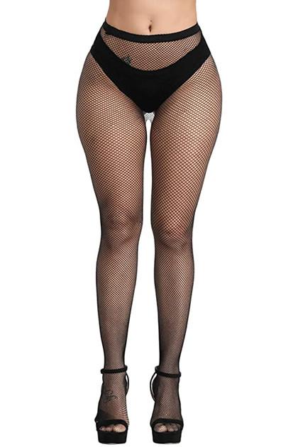 Small Holes Full Waist to Toe Fishnet Pantyhose Stockings
