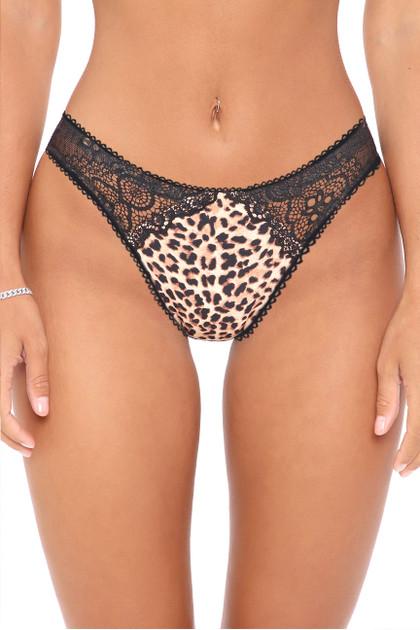 Leopard Brazilian High Cut Panty