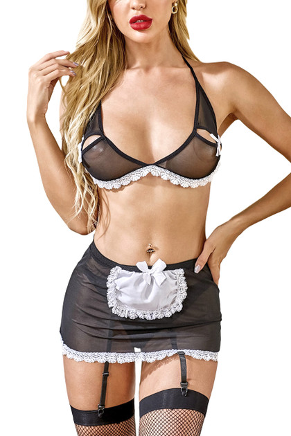 Sassy French Maid Lingerie Costume