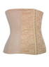 Nude Nylon Mesh Lace 9 Steel boned Underbust Waist Training Slimming Corset