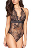 Molly Black Lace Plunging Teddy