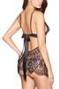 Black Molly Elegant Eyelash Lace Chemise Plus size