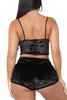 Viola Black Velvet Cami and Shorts Lingerie Set