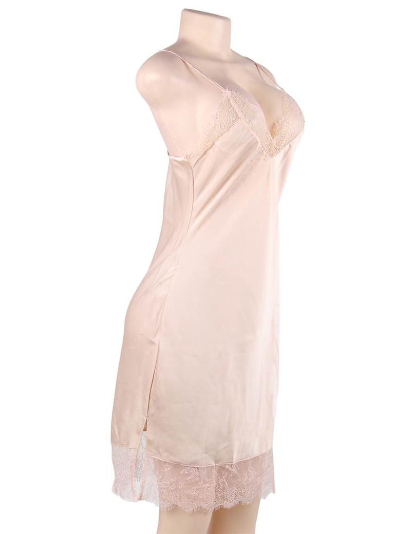 Mabel Nude Satin Sleep Chemise
