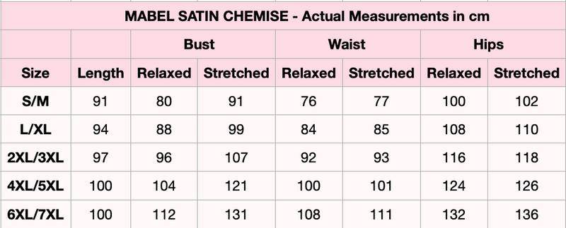 Mabel Black Satin Sleep Chemise