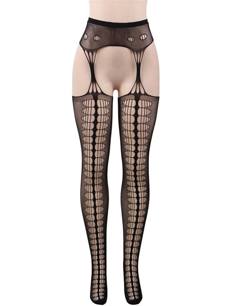 Fishnet Cutout Garter Hose Stockings  Plus Size