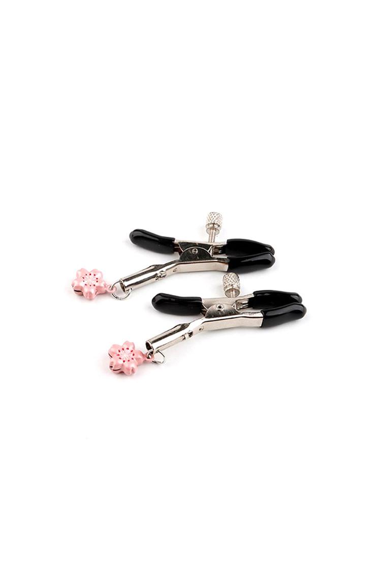 Pink Cherry Blossom Sakura Charm Nipple Clamp