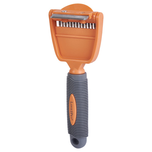 "Love2Pet 2 in 1 Grooming Tool - 2"" Deshedder"