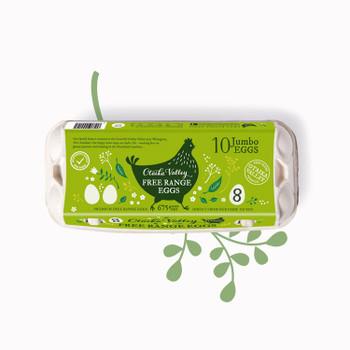 Eggs - Free Range - Jumbo 10 Pack (Size 8)