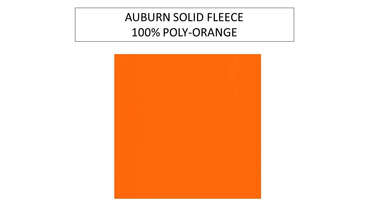 97e5af51c935 Auburn Solid Orange Fleece Fabric-Sold By The Yard - College Fabric ...