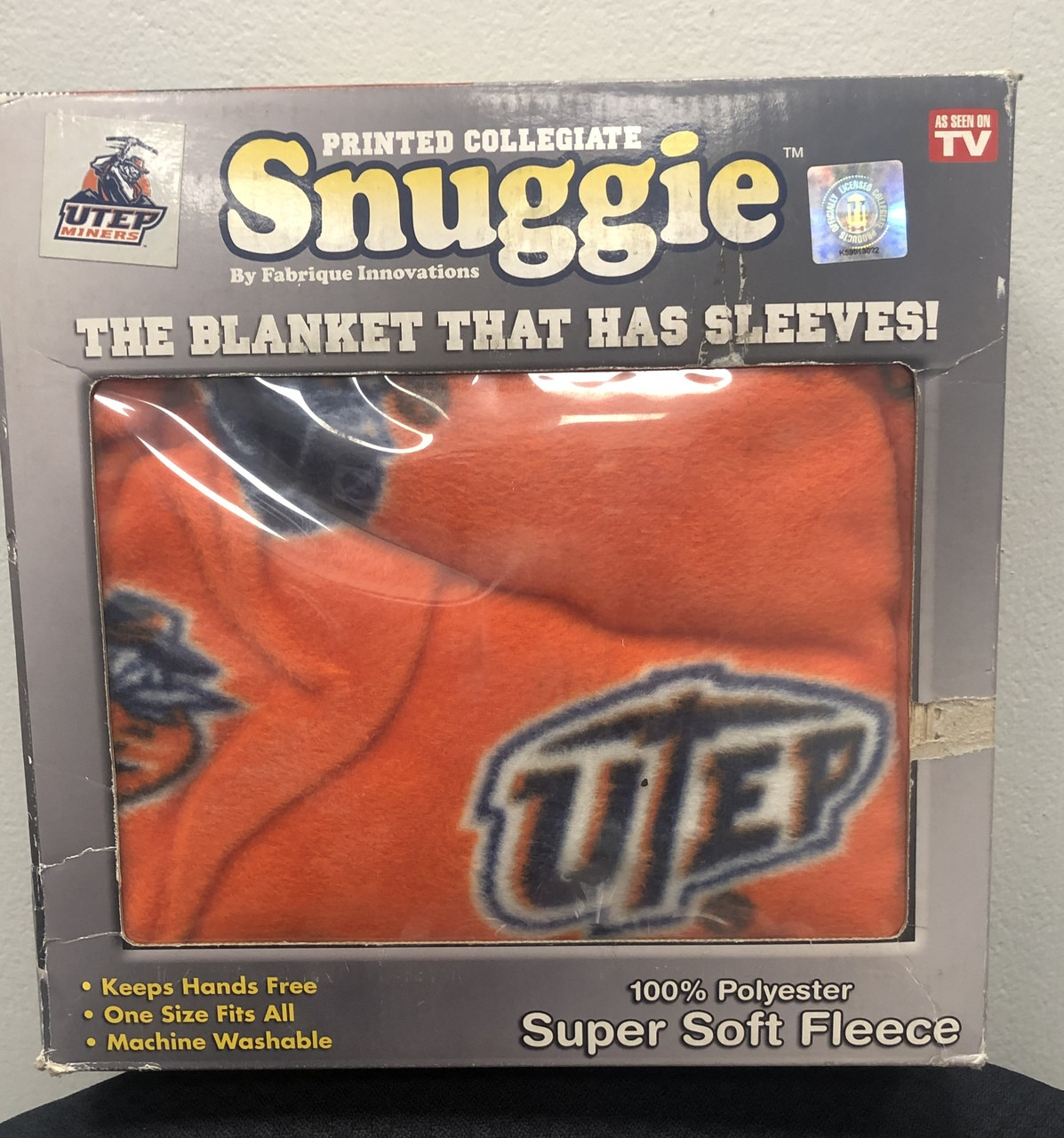 Texas El Paso Snuggie The Blanket With Sleeves College Fabric Store