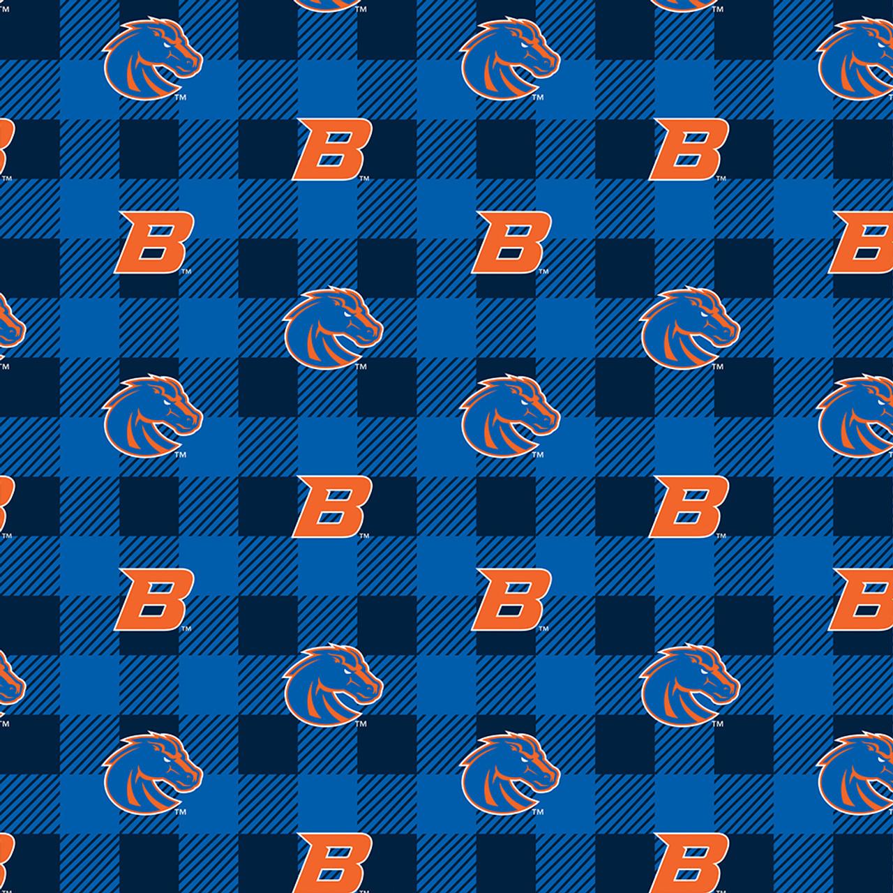 Sykel Enterprises Collegiate Fleece Boise State University Fabric by The Yard Blue