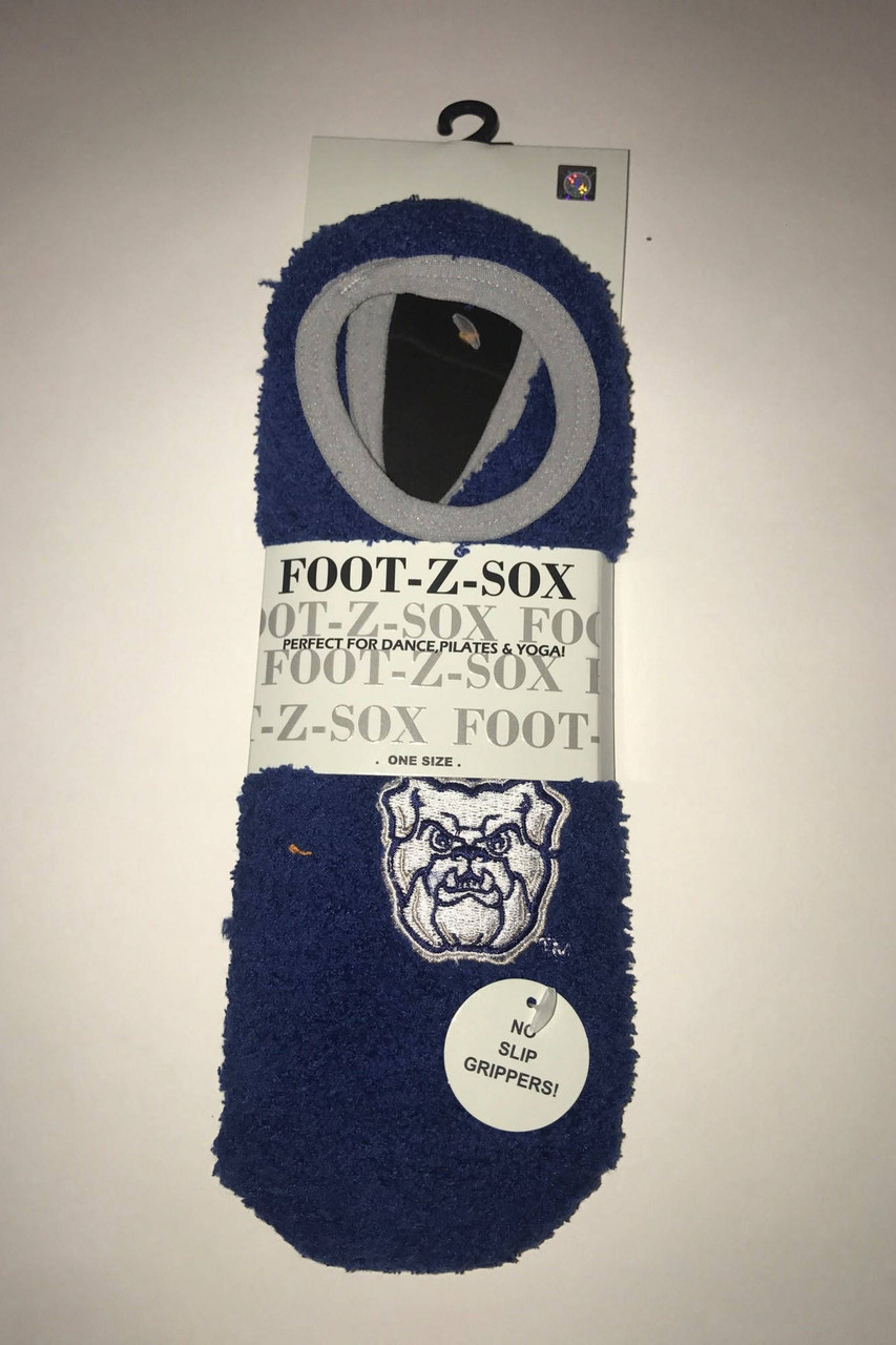 Butler Bulldogs Slipper Socks-Butler Socks with Non Slip Logo Grip--One Size Fits Most-Unisex