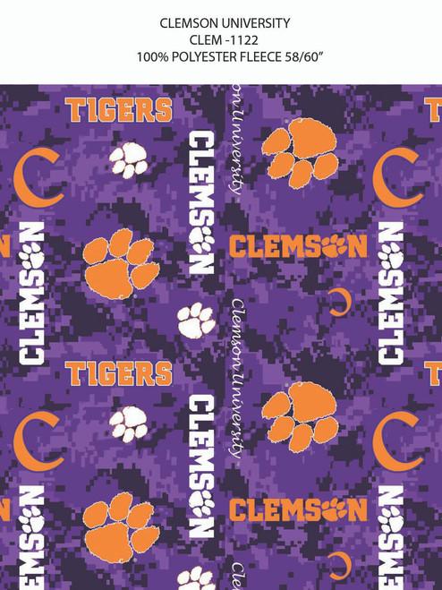 1c9667f4635 Clemson University Fabric Store | Clemson University Fleece Fabric ...