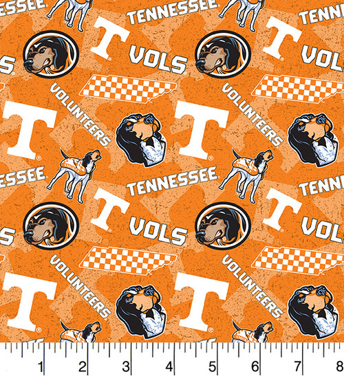 f2f39dc0b86 University of Tennessee Tone on Tone Cotton Fabric-Sold by the Yard