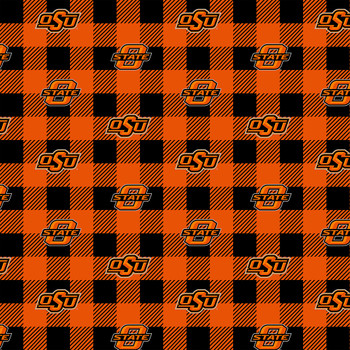 100/% cotton fabric-Sold by the Yard-Sykel NCAA Cotton Fabric Florida State University FSU Cotton Fabric with Mini Buffalo Plaid Design