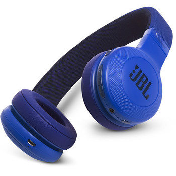 JBL E45BT Bluetooth On-Ear Headphones (Blue)