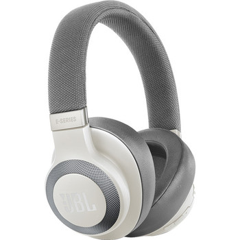 JBL E65BTNC Bluetooth Over-Ear, Noise-Canceling Headphones (White)