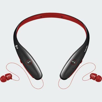 Red LG HBS-900 Tone+ Infinim Bluetooth Headset