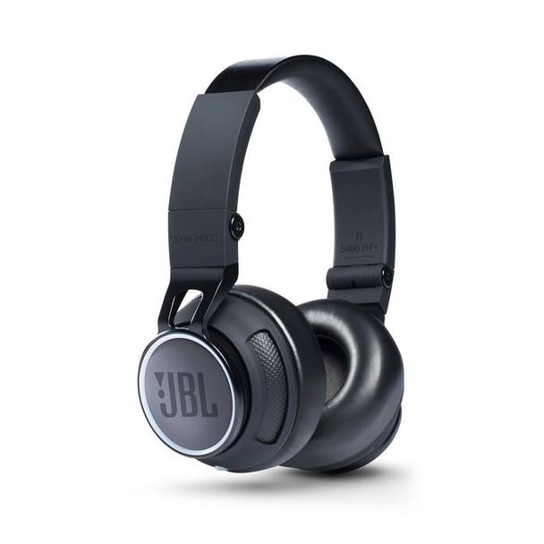 JBL Synchros S400BT+ Wireless On-Ear Bluetooth Stereo Headphone - Jet Black