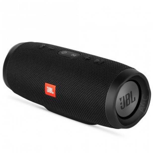 JBL Charge 3 Portable Waterproof Bluetooth Speaker - Black