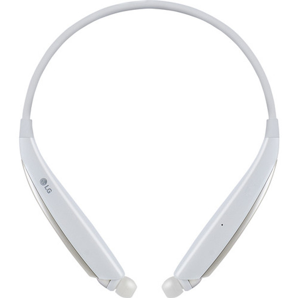LG HBS-830 TONE Ultra Alpha Wireless In-Ear Headphones (White)
