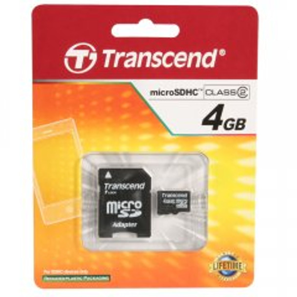 Transcend 4GB microSDHC High Capacity Memory Card