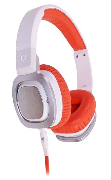 JBL J55 White On-Ear Headphones Ear-Cups and Microphone