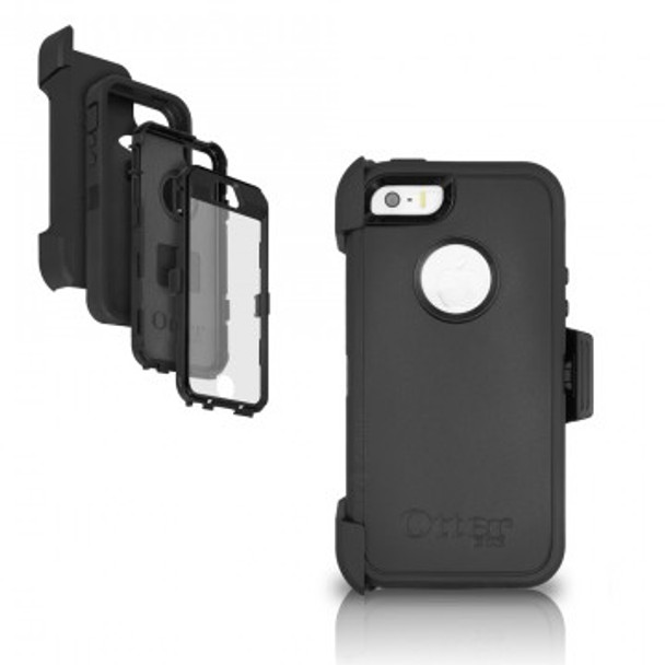 new styles 29861 16976 OtterBox Defender iPhone 5/5s/SE Black Case & Holster