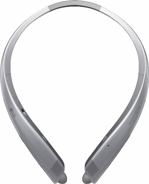 LG - TONE Platinum HBS‑1100 Wireless In-Ear Behind-the-Neck Headphones - Silver