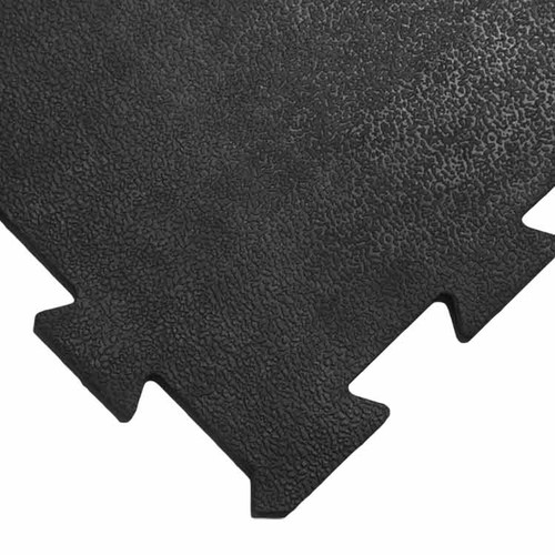 Corner of Armor Lock Interlocking Floor Tile's Puzzle-Like Edge