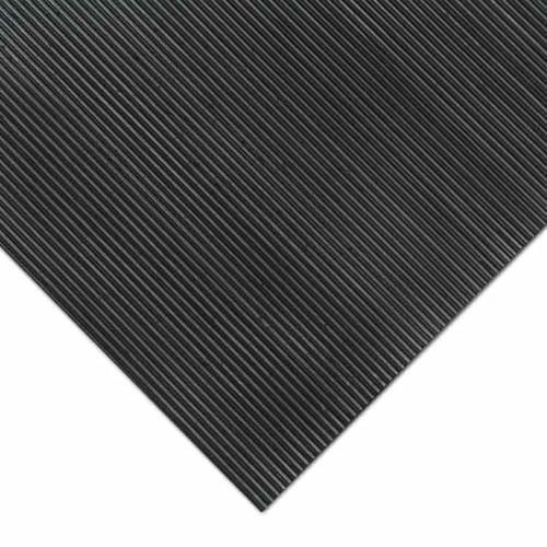 Corner of Corrugated Fine Rib Rubber Runner Mat