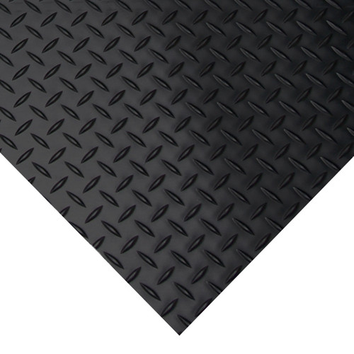 Corner of Diamond Plate Rubber Mat