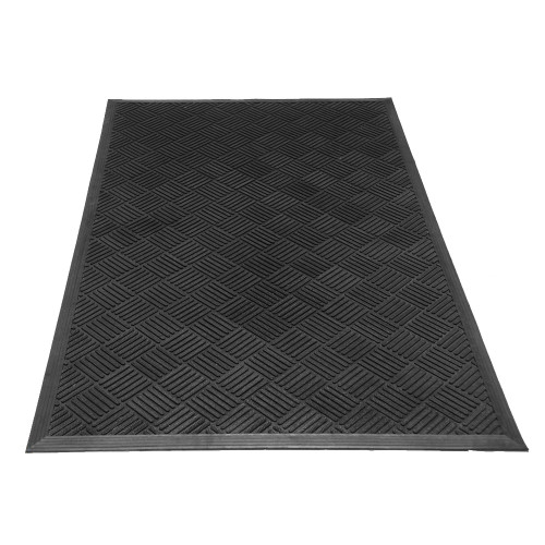 Perspective-view of Dura-Scraper Checkered Rubber Doormat