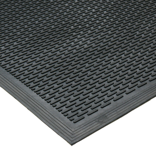 Corner-view of Dura Scraper Linear Rubber Doormat