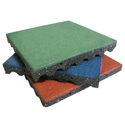 Multi-color stack of Eco-Safety 2.5-inch Rubber Playground Surfacing