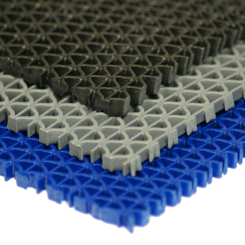 Multi-color stack of S-Grip PVC Drainage Mats