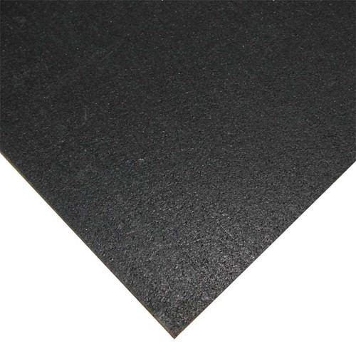 zoomed in shot of black elephant bark rubberized flooring