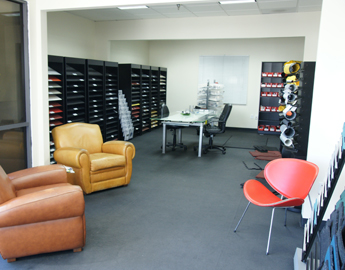 Rubber flooring in a room showing rubber products