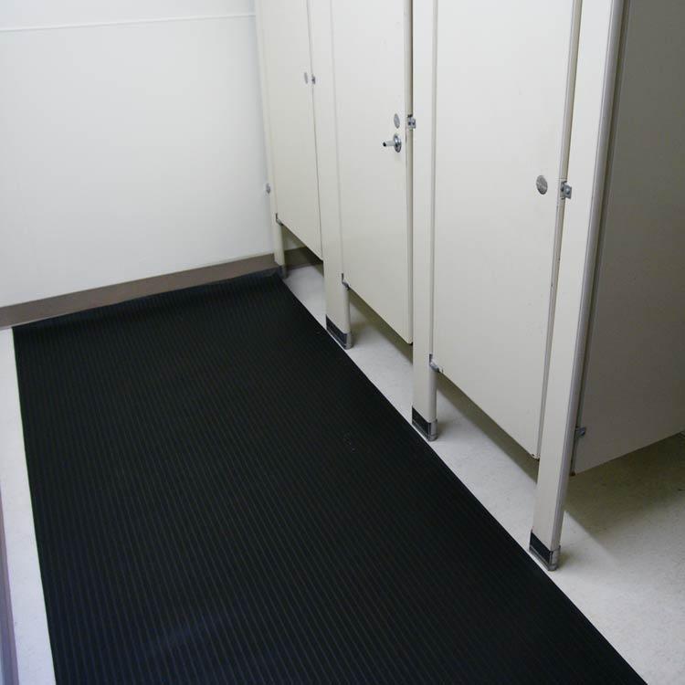 Black Composite Rib Anti-Slip Mats for Bathroom flooring
