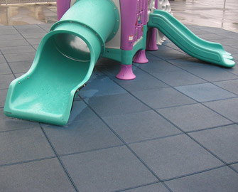 Jungle Gym on Connected Blue Eco-Safety tiles