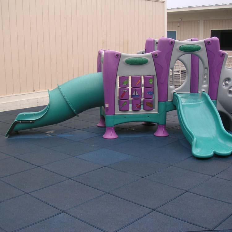 Eco Safety Jungle Gym Mat under a Slide