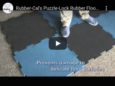 Person Standing on blue and black puzzle tile floor