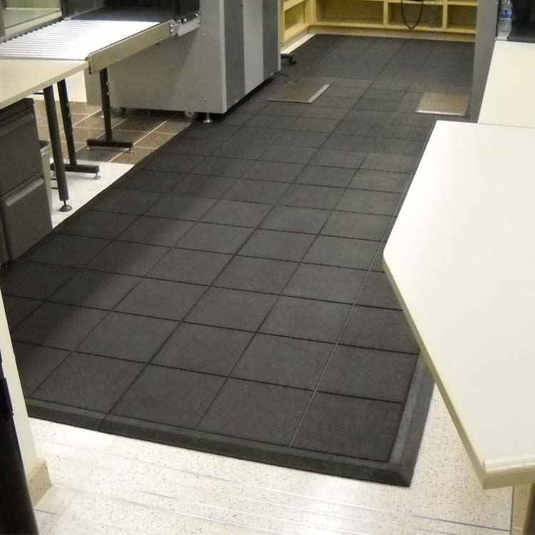 Black Revolution Interlocking flooring tiles in a security room