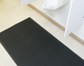 black Safe Grip anti slip rubber matting under toilet