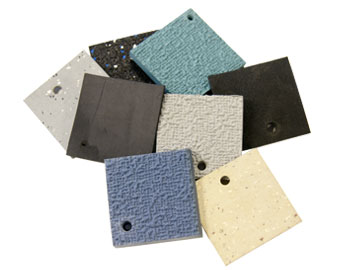 Different colored and textures squares of Rubber Flooring Catalogs