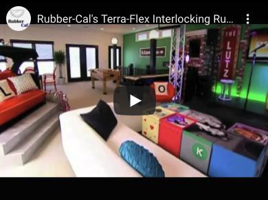 Terra-flex interlocking floor in large room