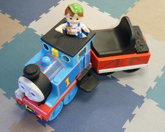 Terra Flex Interlocking Tiles under a toy train