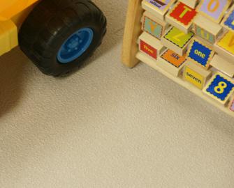 Terra Flex Tiles under Children's toys
