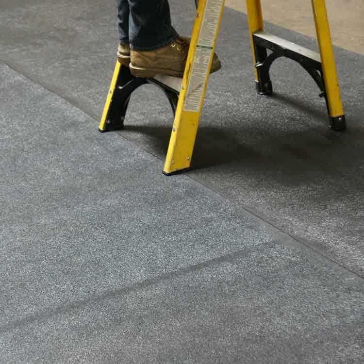 ladder on black tuff n lastic Anti-Slip Flooring